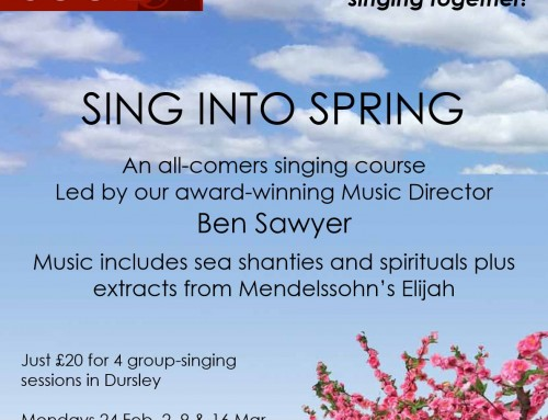 Singing course poster